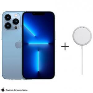 """iPhone 13 Pro 256GB Azul-Sierra com Tela de 6,1"""" 5G e Ca"""