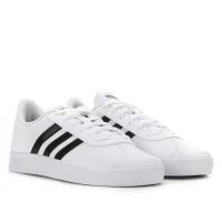 Tênis Infantil Adidas Vl Court 2 0 K - Branco e Preto