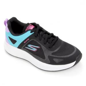 Tênis Skechers Go Run Pulse Operate Feminino - Preto+Am