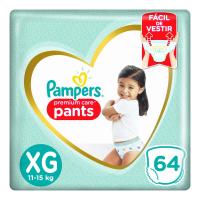 4 Unidades Fralda Pampers Pants Premium Care Tamanho Xg