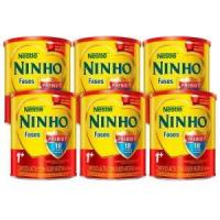 Kit Composto Lácteo Nestlé Ninho Fases 1+ Lata 800g 6 Un