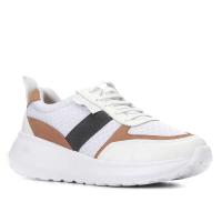 2 Pares - Tênis Couro Shoestock Sneaker Mix Materiais Fe