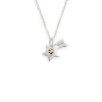 Charm de prata 925 e ouro amarelo 18K - Estrela cadente