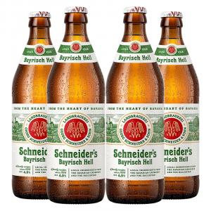 4 Unidades Cerveja Schneiders Bayrisch Hell - 500ml