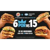 6 sanduíches Burger King na Black Friday (Mercado Pago)