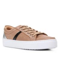 2 Pares - Tênis Couro Shoestock Cobra Listra Feminino