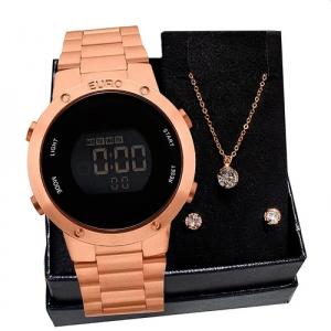 Relógio Feminino Euro Fashion Fit EUBJ3279AF4J Rosé Gol