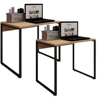 Kit 02 Mesas Para Escritório e Home Office Industrial S