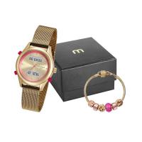 Relógio Feminino Anadigi Mondaine 99120LPMVDE5K1 com Pul