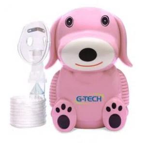 Nebulizador a Ar Comprimido G-Tech NebDog Bivolt Rosa