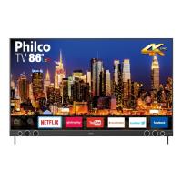 """Smart TV LED 86"""" Philco PTV86P50SNSG Ultra HD 4k com Sou"""