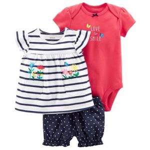 Roupas De Bebê Carters Conjunto Com 3 Peças - Body, Blu