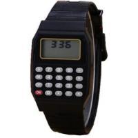 Relógio Digital Calculadora Calendário Hora Cor Preto No