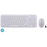 Teclado e Mouse Multilaser Sem Fio Branco - TC232