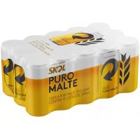 Cerveja Skol Puro Malte Lager 269ml - 15 Unidades