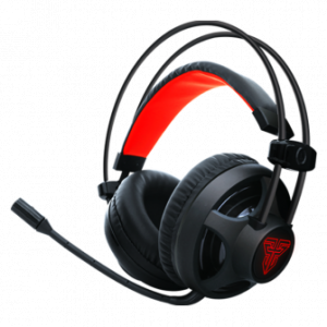 Headset Gamer Fantech Chief 3.5mm + USB LED Red Black HG