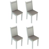 Conjunto 4 Cadeiras em MDF Revestimento em Tecido - Made
