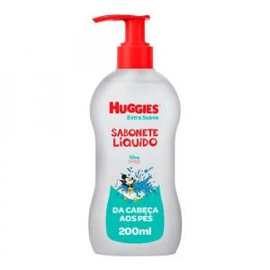 2 Unidades de Sabonete Liquido Huggies Extra Suave 200ml