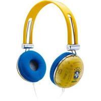 Fone de Ouvido Waldman Headphone Azul e Amarelo Soft Glo