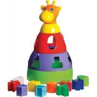 Brinquedo Educativo Girafa Didática com Blocos Merco Toy