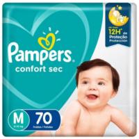 Fralda Pampers Confort Sec Pack Tam M - 70 unidades
