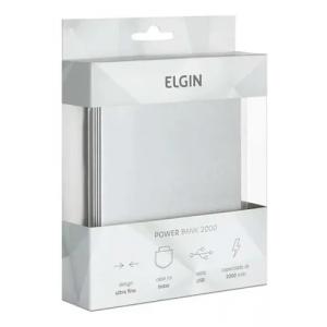 Carregador Portátil Elgin Power Bank Slim 2000mah Usb