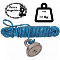 Imã De Neodímio Para Pesca Magnetica Até 80 Kilos De Tra