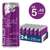 Energético Red Bull Energy Drink Açaí 250 ml (24 latas)