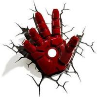 Luminária Mão do Homem de Ferro 3d Light Fx Vermelha R$1