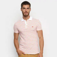 Camisa Polo Lacoste Listrada Degraus Masculina