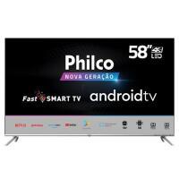 "Smart TV LED 58"" UHD 4K Philco PTV58G71AGBLS Inteligênci"