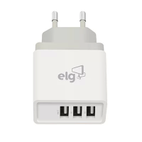 Carregador de tomada c/ 3 saídas USB bivolt Branco WC3S