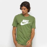 Camiseta Nike Sportwear Icon Futura Masculina - Verde Cl
