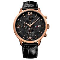 Relógio Tommy Hilfiger Masculino Couro Preto - 1710358