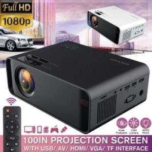 Projetor HD 1080p 4K HDMI / AV / USB / SD / VGA com Sup