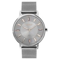 Relógio Feminino Mix Texture Prata - Euro