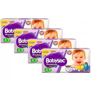 Fraldas Babysec Premium Galinha Pintadinha G 8,5 a 12kg
