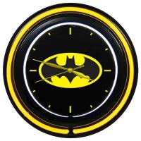 Relógio de Parede Dupla Neon Plástico e Vidro DC Comics