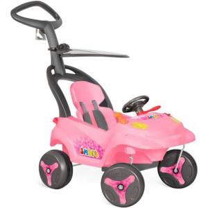 Carro Smart Baby Reclinavel Rosa Bandeirante