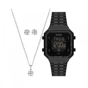 Relógio Euro Feminino Fashion Fit Diamond EUBJK032AC/K4