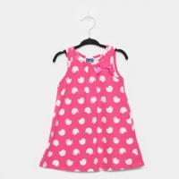 Vestido Infantil Pipa Estampado Laço - Rosa