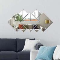 Espelhos Decorativos em Acrílico 7 Peças Quadrado
