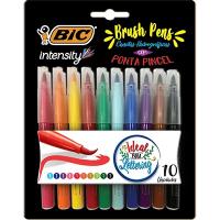 Caneta pincel Brush Pen 10 cores Intensity 970909 Bic PT