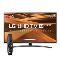 """Smart TV LED 55"""" UHD 4K LG 55UM7470PSA ThinQ AI"""