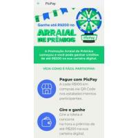 Promoção Arraial de prêmios Picpay - Concorra até R$200