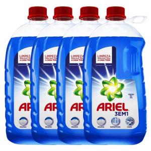 Detergente Líquido Ariel Multiusos 3 em 1 3L - 4 Unidad