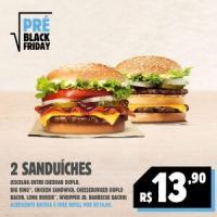 [Pré Black Friday] 2 sanduíches por R$13,90