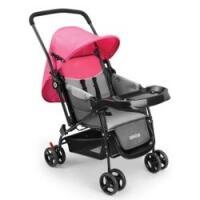 Carrinho de Bebê Berço com Bandeja Nap Weego Rosa - 401