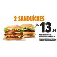2 sanduíches por R$13,90 até o final do ano