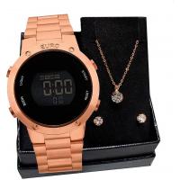 Relógio Digital Euro Feminino - EUBJ3279A + Pulseira em